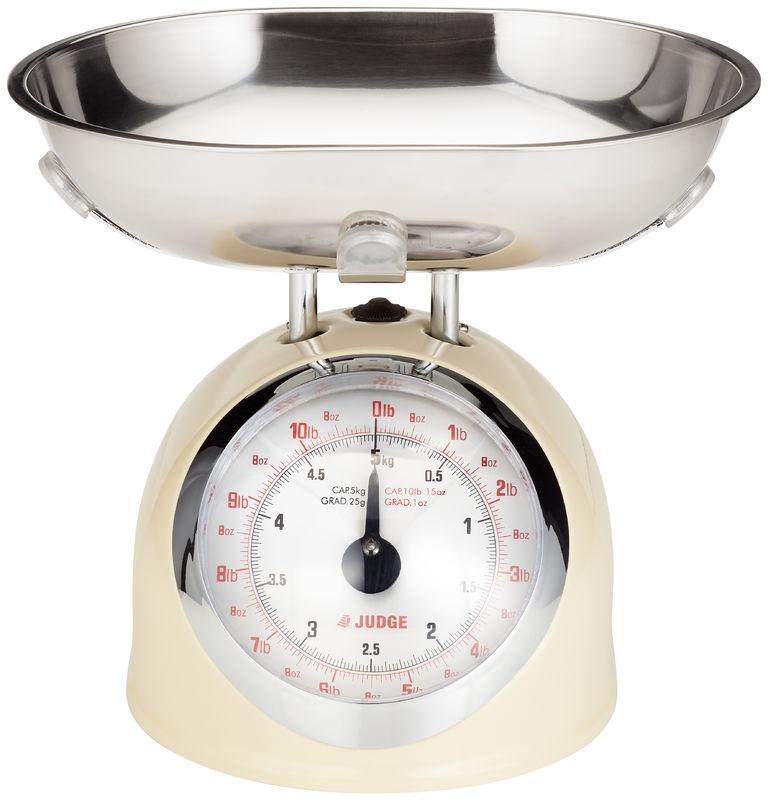 Measuring scales judge traditional cream kitchen for Traditional kitchen scales